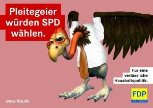 Pleitegeier würden SPD wählen